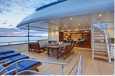 Bridge deck aft Calliope Yacht